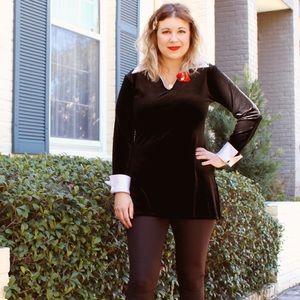 Vintage black velvet top